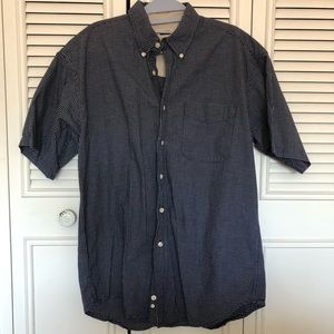 Haggar Checkered Short Sleeve Button-Up Shirt